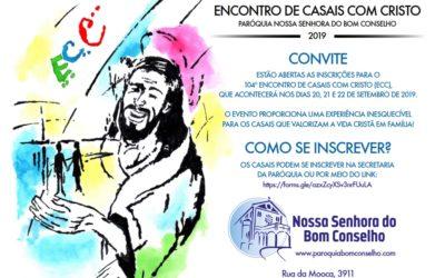 104º ENCONTRO DE CASAIS COM CRISTO – 2019